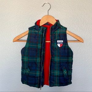 Tommy Hilfiger Jackets & Coats - Tommy Hilfiger Infant Plaid Puffer Vest 18M